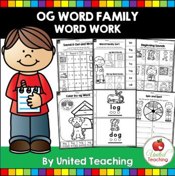-og CVC Word Family Word Work
