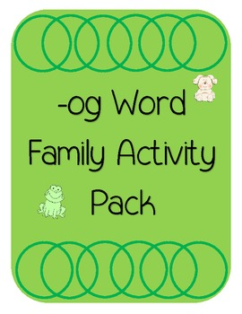 -og Word Family Activities