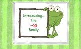 -og Word Family Chunk Lesson-Smart Board –9 slides-Interactive-Grades PreK-3