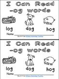 -og Word Family Emergent Reader Kindergarten with Pocket Chart Cards & More