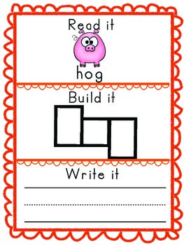 -og Word Family Packet, Read it, Build it, Write it Activities and Assessments!