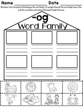 -og Word Family Worksheets