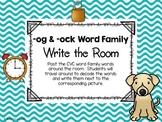 -og & -ock Word Family Write the Room
