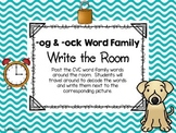 -og & -ock Word Family Write the Room