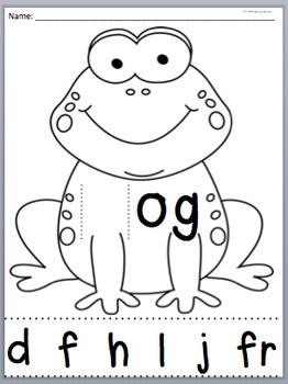 -og word family packet, spelling packet