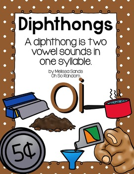 -oi Diphthong Anchor Chart & Practice {Click File, Print}
