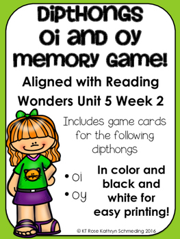/oi/ Sound Memory Game---Aligned with Reading Wonders Unit 5 Week 2