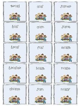 -oi and -oy Word Board Game: A Boy and His Toy