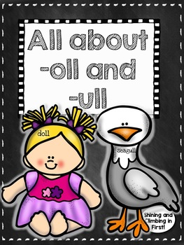 Final Consonant ll -oll and -ull - Word Family Word Work Activities