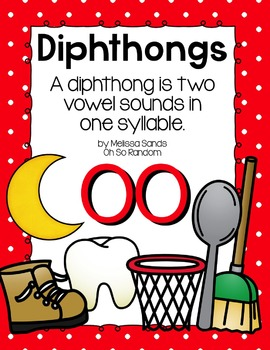 -oo Diphthong Anchor Chart & Practice {Click File, Print} FREEBIE