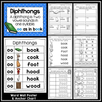 -oo Diphthong Anchor Chart & Practice {Click File, Print}