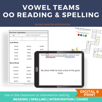 Vowel Team Activities oo