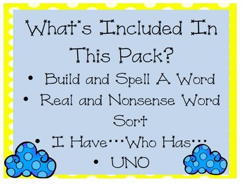 -oo and -ou Vowel Teams Game Pack