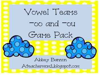 -oo and -ou Vowel Teams Game Pack