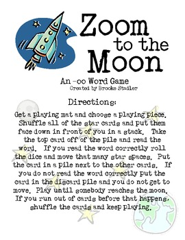 -oo sound: Zoom to the Moon Board Game