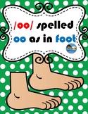 /oo/ spelled oo as in Foot TEK 2.2 & 2.4