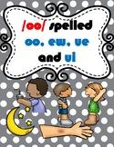 /oo/ spelled oo, ew, ui, and ue  TEK 2.2, 2.4