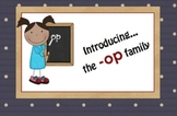 -op Word Family Chunk Lesson-Smart Board –10 slides-Interactive-Grades PreK-3