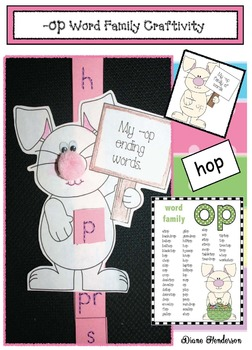 -op Word Family Activities & Bunny Craft