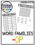 -op Word Family Pack NO PREP