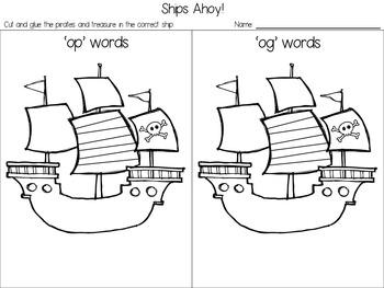 'op-og' short vowel Word Sort Freebie