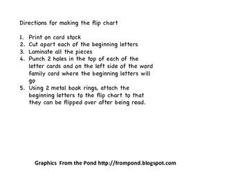 -op word family flip chart