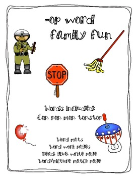 -op word family fun