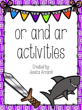 """""""or"""" and """"ar"""" R Controlled activity pack"""