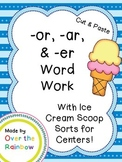 -or, -ar, and -er Word Work