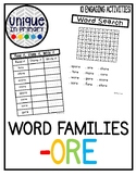 -ore Word Family Pack NO PREP