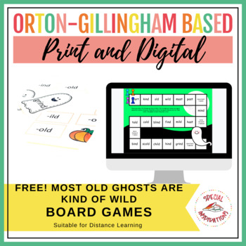 -ost, -ind, -old, -ild halloween phonics board game