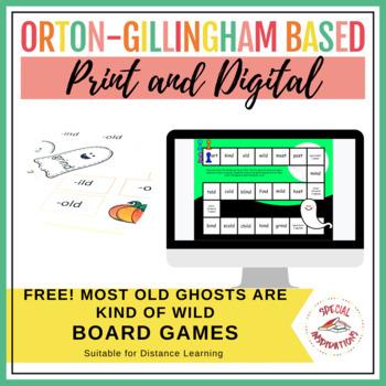 -ost, -ind, -old, -ild halloween phonics board game