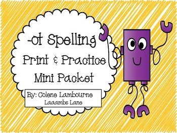 -ot Spelling Print and Practice Mini Pack