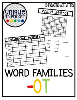 -ot Word Family Pack NO PREP