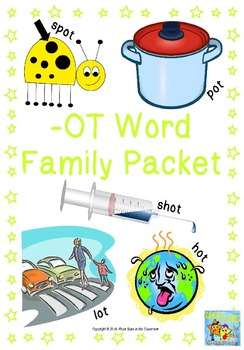 Ot Word Family Packet By Rock Stars In The Classroom Tpt