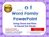 -ot Word Family Phonics PowerPoint for K or 1st (Common Core!)