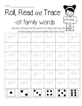 -ot family Roll, Read, and Trace