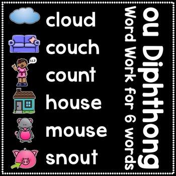 -ou Diphthong Anchor Chart & Practice {Click File, Print}