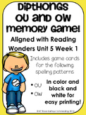 /ou/ Sound Memory Game---Aligned with Reading Wonders Unit 5 Week 1