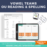 Vowel Diphthong OU Orton-Gillingham Activities