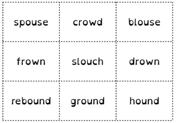 /ou/ Word Sort {Differentiated} + Seat work