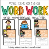 Vowel Digraphs -ou and -oo /u/ Word Work Activities