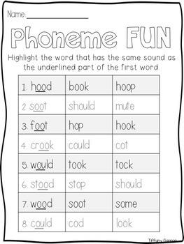 Vowel Digraphs -ou and -oo /u/ Word Work Activities