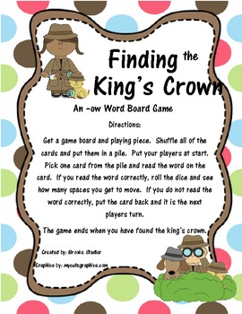 -ow Board Game: Finding the King's Crown