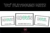 'ow' Playdough Mats
