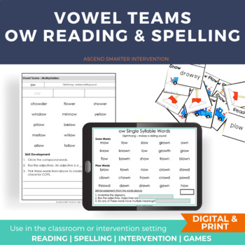 Vowel Team Activities ow