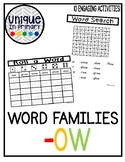 -ow Word Family Pack NO PREP