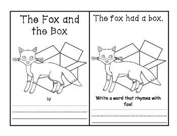 -ox Word Family Book - Fox in a Box AND Activities