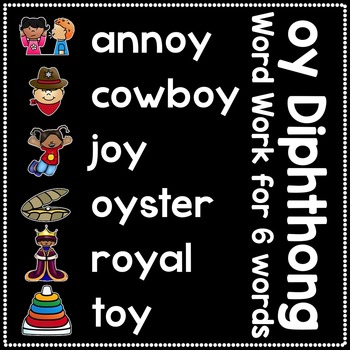 -oy Diphthong Anchor Chart & Practice {Click File, Print}