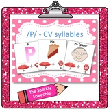 /p/ - CV words, articulation & phonological flashcards